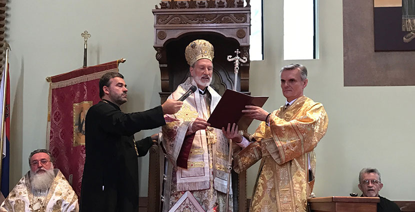 His Grace Irinej Enthroned as Fifth Bishop of Eastern America