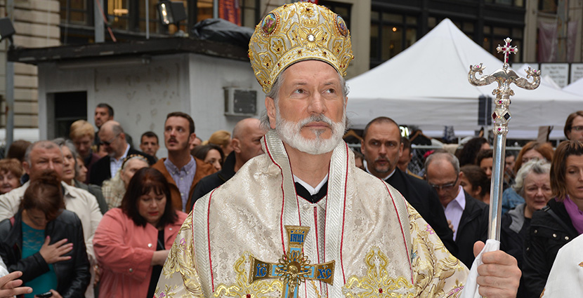 His Grace Bishop Irinej of the Eastern American Diocese Serves His First Liturgy in New York City